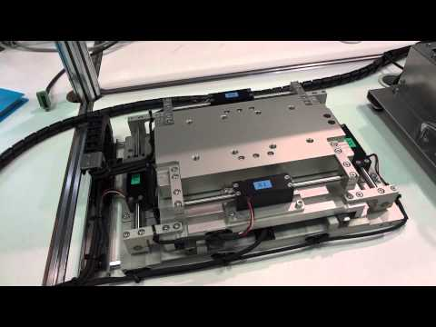 Nippon Linear Shaft Motor XY Table Video