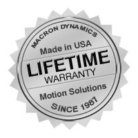 Macron Dynamics Lifetime Guarantee