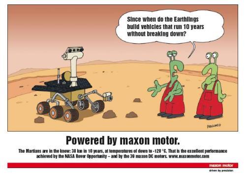 Maxon Motors on Mars