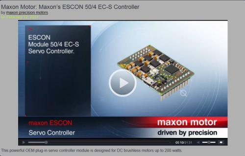 Maxon ESCON 50/4 Video